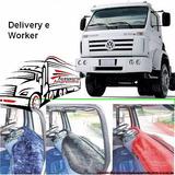 Capa D Painel Pelucia P Caminhão Vw Worker/delivery Vermelha