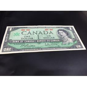 Billete De 1 Dolar Canadiense Conmemorarivo De 1967