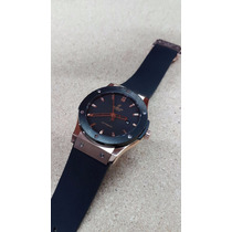 Reloj Hublot Hb000 Fusion Rodado Bisel Ceramico Negro Automt