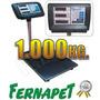 Balanza Digital 1000 Kg. Plataforma 80x60cm 96819 / Fernapet