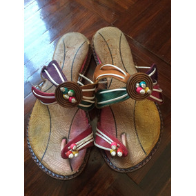 Hermosas Sandalias De Niñas. Artesanía Colombiana. De Cuero