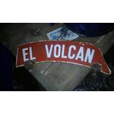 Chapa Esmaltda Moto El Volcan
