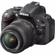 Câmera Nikon D5200 Full Hd Kit 18-55mm Profissional 24.1 Mp