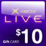 Xbox Live $10 Usd Gift Card Para Cuenta Americana