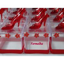 10 Caixinhas Acrilica 5x5 C/sapatinho Cristal Lembrancinha