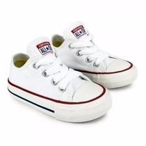 Zapatos Converse Blancos De Niños (as) Talla 25 Al 34