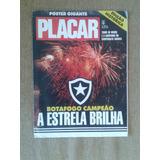 Placar Poster 992a Gigante Botafogo Campeão Carioca 1989