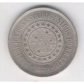 Brasil 200 Réis 1889 S/fc Cupro-níquel.
