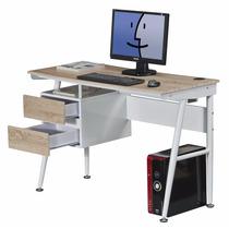 Escritorio Clasico Oficina Computadora Mueble Madera Acero