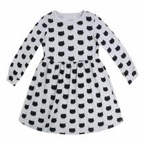 Vestido Infantil Malha Gatinhos 4-5 Anos Importado
