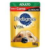 Ração Pedigree Sachê Carne Ao Molho Para Cães Adultos 18 Uni