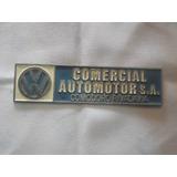 Vw Sedan Vocho Combi Safari Emblema Vw Placa De Metal