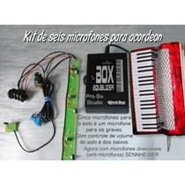 Microfone Para Acordeon Black Bug Pss Com Mic. Sennheiser