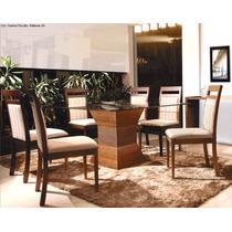 Conjunto Sala De Jantar Mesa E 6 Cadeiras Istambul-mobillare