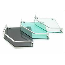 Porta Shampoo Prateleira De Canto Vidro Incolor 8mm Alumínio