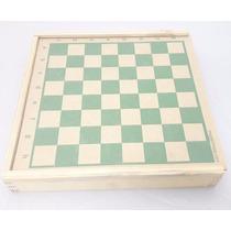 Jogo De Xadrez C/ Tabuleiro Medindo 26x26 Cm, Peças Pequenas