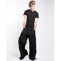 Pantalon Cyber Tripp Af7828m C/ Cintas Punk Rocker Gothic