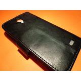 Alcatel Idol 6030 Funda Cartera Tipo Flip Cover Color Negro