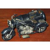 Moto Con Sidecar De Chapa Replica Harley Davidson 3055