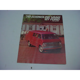 Folder Ford Furgao E100 Super Van Econoline 70 1970 V8