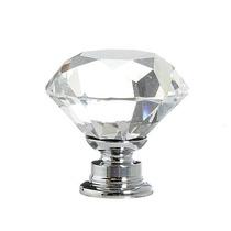 Requintado Puxador Vidro Incolor Design Cristal