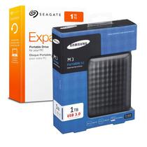 Hd Externo Portátil Seagate Samsung 1tb Usb 3 Top