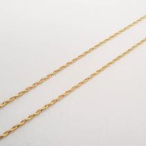 Pulseira Feminina Torcida De 19cm Com 1mm De Ouro 18k - 750