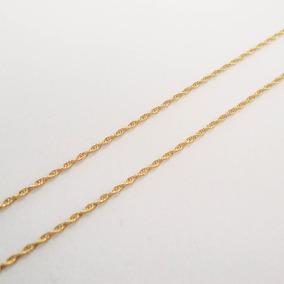 Linda Corrente De Ouro 18k Torcido Cordão Baiano De 40cm
