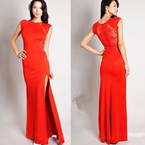 Vestidos Largos Color Negro Y Rojo
