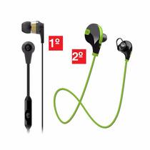 Kit C/ 1 Headset S/ Fio Bluetooth E 1 Fone Skullcandy Ink