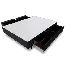 Cama Box Casal Universal 4 Gavetas Cinza - 138x188 Casal Pad