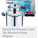Panela De Pressao Clock Alumínio Polido
