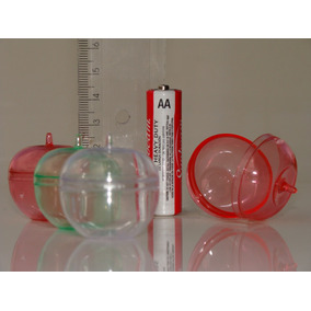 Kit C/30 Lembrancinha Caixinhas De Acrilico Maçã Cristal