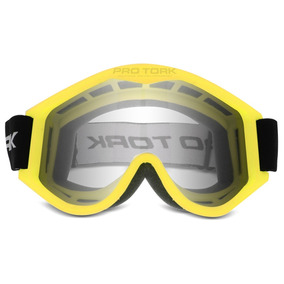 Oculos Motocross Pro Tork 788 Trilha Off Road Cross Amarelo