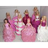 Barbie Decorada - Vestido Artesanal Eva