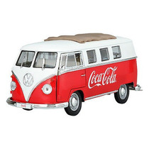 Miniatura Volkswagen Kombi Vermelha Coca-cola 1962 1:18