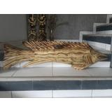 Pez Marlin Tallado En Madera,para Decorar,artesania,totem