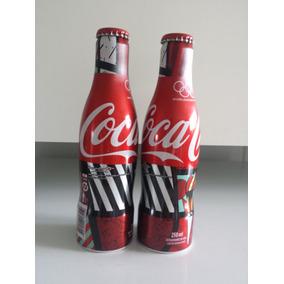 1 Garrafa Decorativa Coca-cola-aluminio-edição Romero Brito