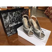Zapatos De Fiesta Marca Belle De Jour Nº 37, Taco De 8 Cm