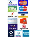 Calcos Tarjetas De Crédito Y Débito Para Vidrieras X Unidad