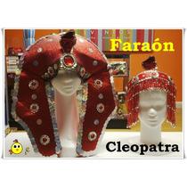 Gorro Faraón + Vincha Cleopatra Perlas - Excelente Calidad!!