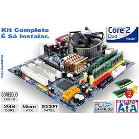 Kit Placa Mãe Core 2 Duo E6300 + 2gb + Cooler