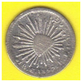 1 Real 1857 Plata 7/6 México Guanajuato Benito Juárez Vbf