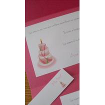 Invitaciones Cumpleaños Adultos Tarjetas Entrega En 3 Días.