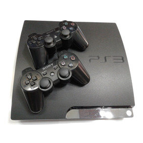 Playstation 3 Ps3 Slim 160gb + 2 Controles + 5 Jogos