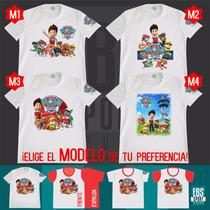 Camiseta Camisa Para Niño Paw Patrol Patrulla De Cachorros