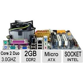 Kit Placa Mãe Gigabyte Core 2 Duo E8400 3.0ghz + 2gb Ddr2