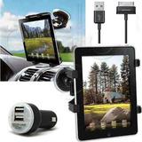 Combo Auto X3 Tablet Soporte Parabrisas + Cargador + Cable