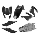 Kit Carenagens Plastico P Bros 150 2009 2010 2011 2012 Preto