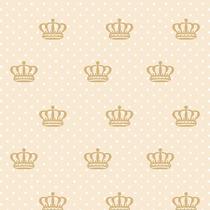 Papel De Parede Poá Infantil, Coroa, Lavável Viníl 3,10m